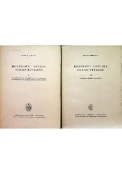 Rozprawy i studia polonistyczne tom II - III