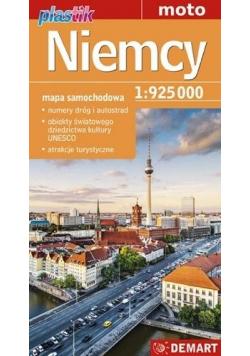 Niemcy See it. Mapa samochodowa 1: 925 000