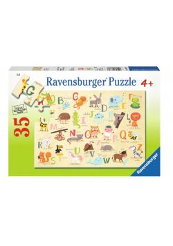 Puzzle 35 Alfabet ze zwierzętami