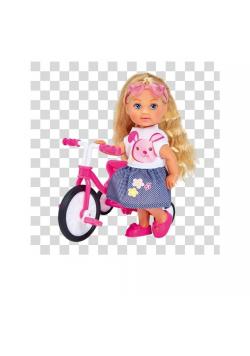Evi na trójkołowym rowerku
