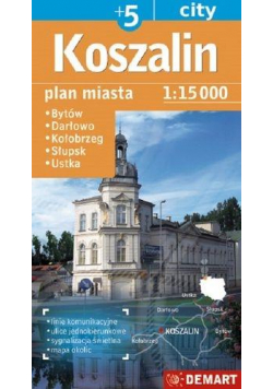Plan miasta Koszalin/Słupsk +5 1:15 000