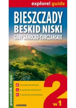 Bieszczady Beskid Niski Góry Sanocko-Turczańskie 2w1 Przewodnik