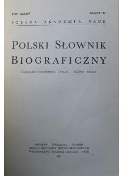 Polski słownik biograficzny tom XXXII zeszyt 134