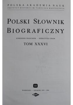 Polski słownik biograficzny tom XXXVI