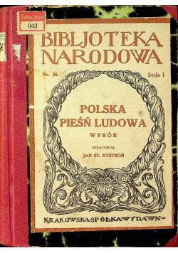 Polska pieśń ludowa wybór 1920r