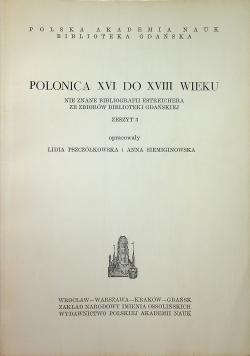 Polonica XVI do XVIII wieku