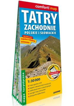 Tatry Zachodnie polskie i słowackie laminowana mapa turystyczna 1:30 000