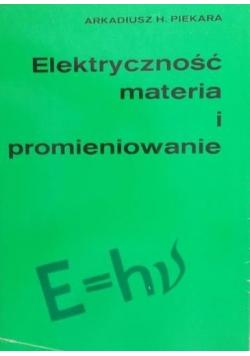Elektryczność materia i promieniowanie