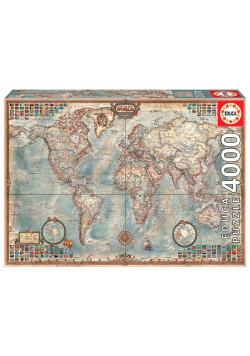 Puzzle 4000 Mapa polityczna świata G3