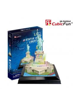 Puzzle 3D Statua Wolności LED