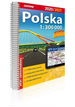 Polska atlas samochodowy 1:300 000 2020/2021