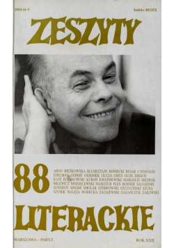 Zeszyty literackie 88 4/2004