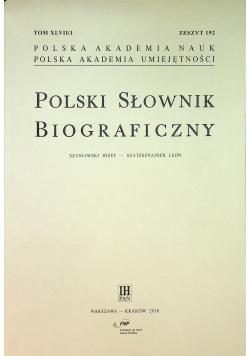 Polski Słownik Biograficzny zeszyt 192