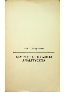 Brytyjska filozofia analityczna
