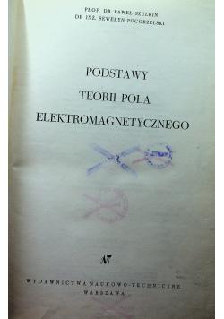 Podstawy teorii pola elektromagnetycznego