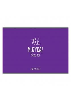 Zeszyt do nut A5/16K muzyka poprzeczny (10szt)