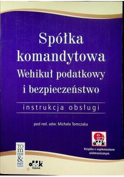 Spółka komandytowa Wehikuł podatkowy i bezpieczeństwo plus płyta CD