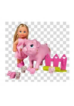 Evi z ciężarną świnką