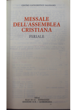 Messale Dell assemblea Cristiana Feriale