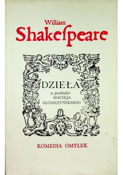 Shakespeare Dzieła Komedia omyłek