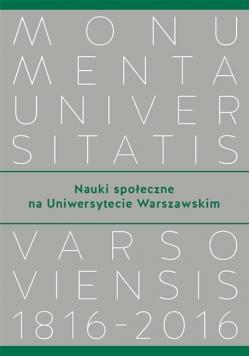 Nauki społeczne na Uniwersytecie Warszawskim