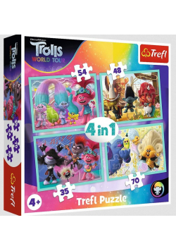 Puzzle 4w1 Trasa koncertowa Trolli TREFL