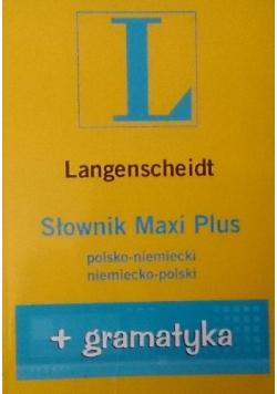 Słownik Maxi Plus polsko niemiecki niemiecko polski + gramatyka