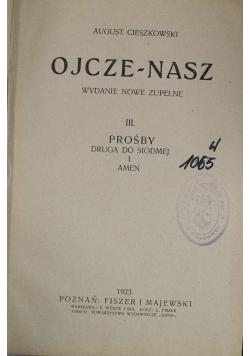 Ojcze Nasz prośby 1923 r.