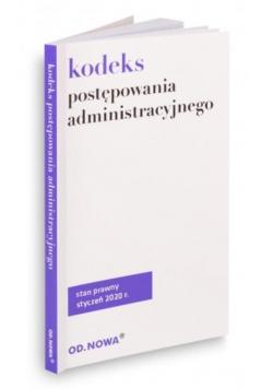 Kodeks postępowania administracyjnego 10.01.2020