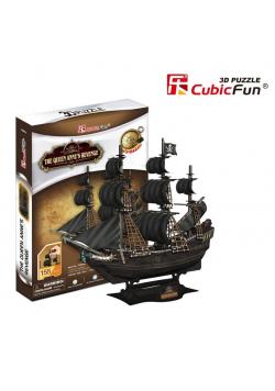 Puzzle 3D Okręt piracki Zemsta Królowej Anny