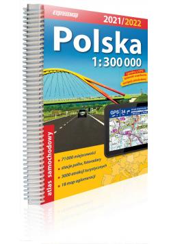 Polska Atlas samochodowy 1:300 000 2021/2022