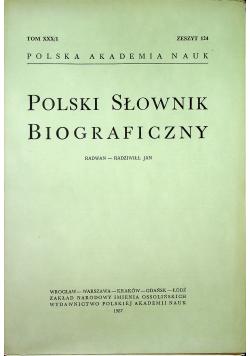 Polski słownik biograficzny Tom XXX/ 1 zeszyt 124
