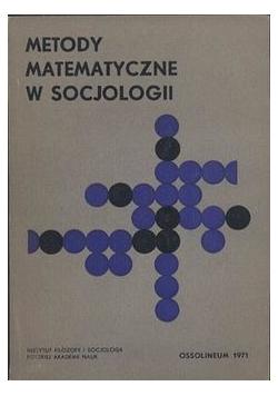 Metody Matematyczne W Socjologii