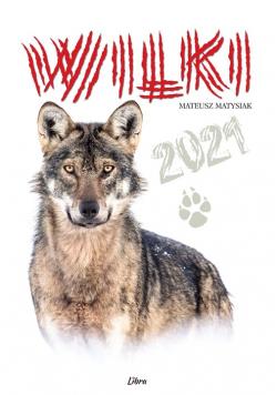 Kalendarz 2021 Wilki (biały)