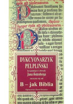 Dykcyonarzyk pelpliński ku pamięci i chwale Jana Gutenberga
