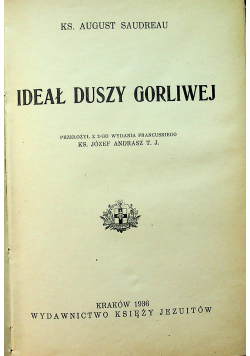 Ideał duszy gorliwej 1936 r
