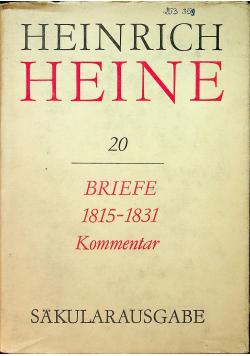 Briefe 1815-1831 Kommentar
