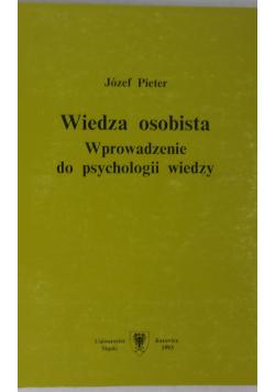 Wiedza osobista wprowadzanie do psychologii wiedzy