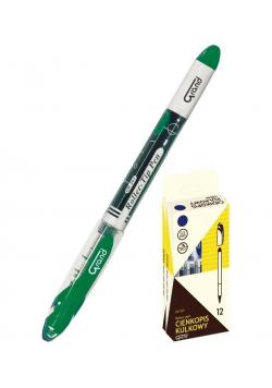 Cienkopis kulkowy GR-203 zielony (12szt) GRAND