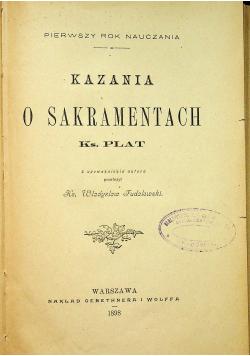 Kazania o sakramentach 1898 r
