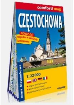 Comfort! map Częstochowa 1:22 000 mapa kieszonkowa
