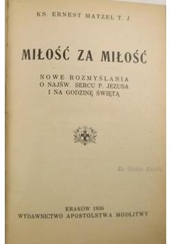 Miłość za miłość 1936 r