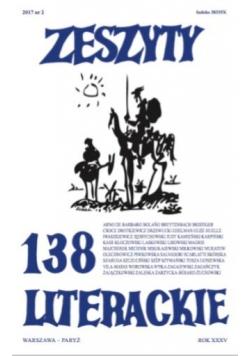 Zeszyty literackie 138 2/2017