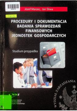 Procedury i dokumentacja badania sprawozdań finansowych jednostek gospodarczych. Studium przypadku