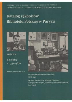 Katalog rękopisów Biblioteki Polskiej w Paryżu