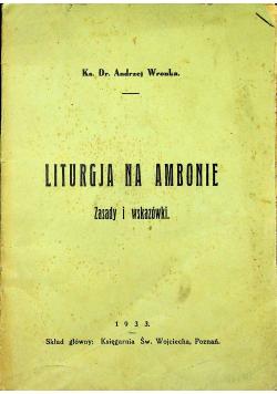 Liturgja na ambonie 1933 r
