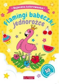 Flamingi, babeczki...Bajeczna kolorowanka
