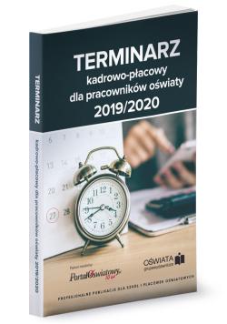 Terminarz kadrowo-płacowy 2019/2020 dla pracowników oświaty