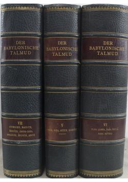 Der Babylonische talmud 3 tomy 1925 r