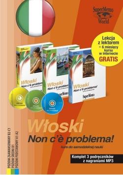 Włoski Non ce problema Komplet 3 podręczników z nagraniami MP3